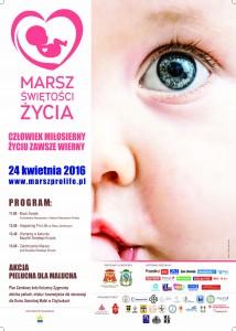 Plakat XI Marsz Świętości Życia